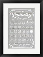 Framed Laundry Wash Guide