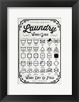 Framed Laundry Wash Guide