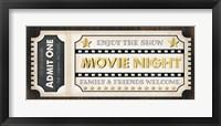 Framed Movie Ticket