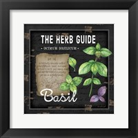 Framed Herb Guide Basil