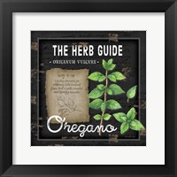 Framed Herb Guide Oregano