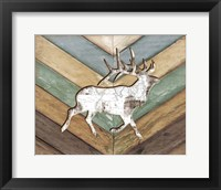 Framed Lodge Elk