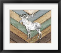 Framed Lodge Moose