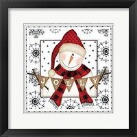 Framed Snowman Snowflake