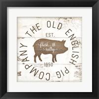 Framed Old Pig Company II