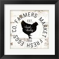 Farmer Market Eggs Framed Print