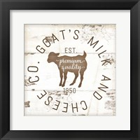 Framed Goat's Milk and Cheese Co. II