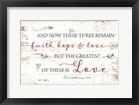 Framed 1 Corinthians 13:13
