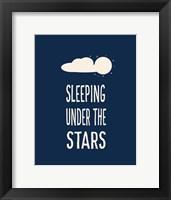 Framed Sleeping Under the Stars