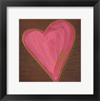 Framed Heart on Wood