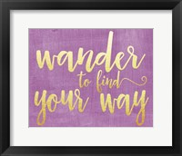 Framed Wander to Find Your Way
