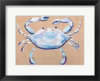 Framed Blue and White Crab