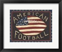 Framed American Football