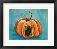 Framed Pumpkin & Crow