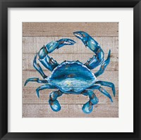 Framed Blue Crab