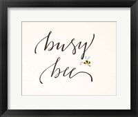 Framed Busy Bee