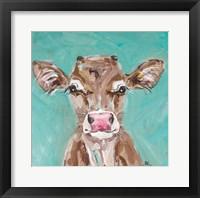 Framed Pink Nosed Cow