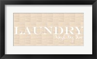 Framed Laundry Burlap