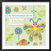 Framed Favorite People Grandma