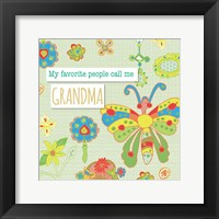 Framed Favorite People Grandma