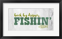 Framed Fishing Dinner