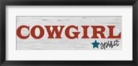 Cowgirl Spirit Framed Print