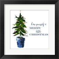 Framed Merry Little Christmas Tree
