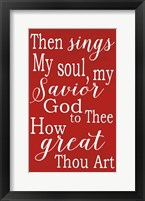 Framed How Great Thou Are