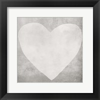 Framed Dark Grey Heart