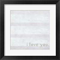 Framed I Love You - Grey