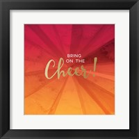 Framed Bring on the Cheer - Orange