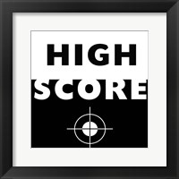 High Score Framed Print