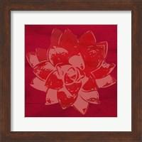 Framed Boho Succulent Red