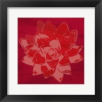 Framed Boho Succulent Red