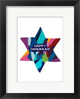 Framed Hanukkah Star