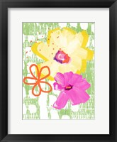 Framed Happy Garden I