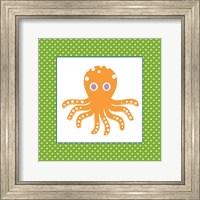 Framed Cute Orange Octopus