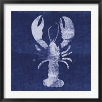 Framed Indigo Lobster II