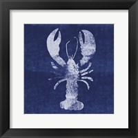 Framed Indigo Lobster II