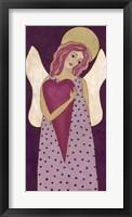 Framed Purple Angel