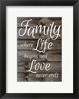 Framed Family - Wood Sign