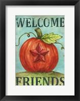 Framed Pumpkin Star Welcome Autumn 2