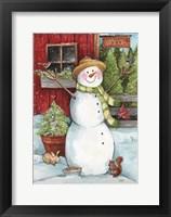 Framed Snowman Tree Farm