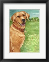 Framed Yellow Lab Friend Family