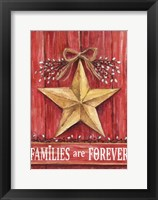 Framed Gold Barn Star Families Are Forever
