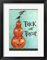 Framed Pumpkin Stack Trick Or Treat New