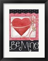 Framed Pink Heart Be Mine
