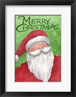 Framed Merry Christmas Santa In Red