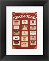 Framed Vins de Beaujolais