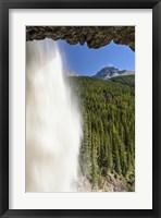 Framed Behind Panther Falls - Vertical
